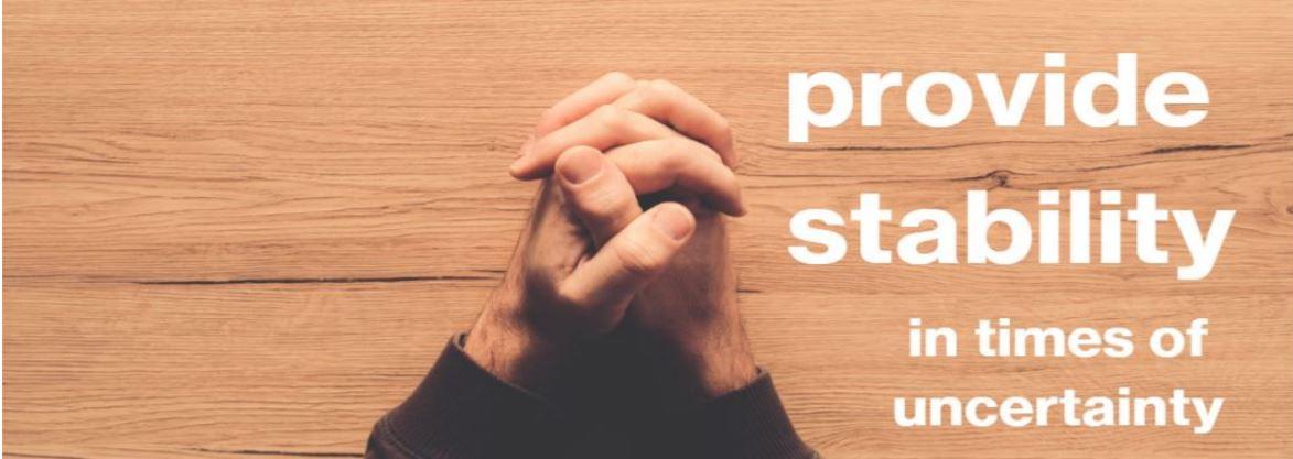 Provide Stability prayer